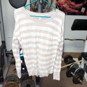 Victoria's Secret ladies xs striped sheer sweater